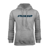Grey Fleece Hoodie-Tusks Up