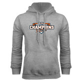 Grey Fleece Hoodie-2017 Big West Track & Field Champions
