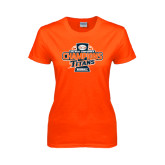 Ladies Orange T Shirt-2016 Big West Conference Champions Baseball