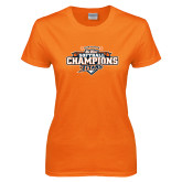 Ladies Orange T Shirt-2017 Big West Back to Back Softball Champions