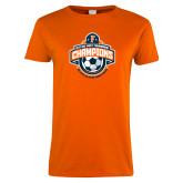 Ladies Orange T Shirt-2017 Big West Womens Soccer Champions