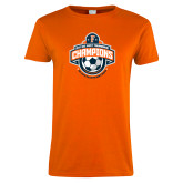 Ladies Orange T Shirt-2017 Big West Mens Soccer Champions