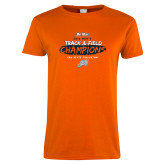 Ladies Orange T Shirt-2018 Big West Track and Field Champions