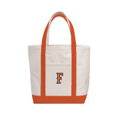 Contender White/Orange Canvas Tote-F