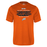 Performance Orange Tee-2018 Mens Basketball Champions - Brush
