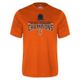Performance Orange Tee-2018 Mens Basketball Champions - Net w/ Basketball