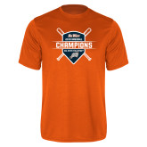 Performance Orange Tee-Big West 2018 Baseball Champions