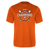 Performance Orange Tee-Big West 2018 Softball Champions