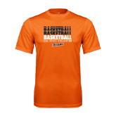 Performance Orange Tee-Basketball Repeating