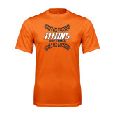 Performance Orange Tee-Softball Sideway Seams