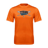 Performance Orange Tee-Baseball Crossed Bats