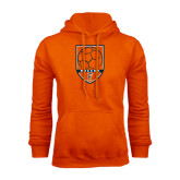 Orange Fleece Hoodie-Soccer Shield