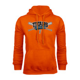 Orange Fleece Hoodie-Baseball Crossed Bats