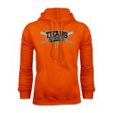 Orange Fleece Hood-Baseball Crossed Bats