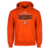 Orange Fleece Hoodie-2018 Mens Basketball Champions - Brush