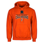 Orange Fleece Hoodie-2018 Mens Basketball Champions - Net w/ Basketball