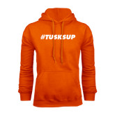 Orange Fleece Hoodie-Tusks Up