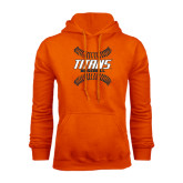 Orange Fleece Hoodie-Baseball Sideway Seams