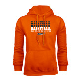 Orange Fleece Hoodie-Basketball Repeating