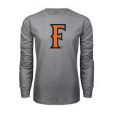 Grey Long Sleeve T Shirt-F