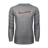 Grey Long Sleeve T Shirt-Fullerton