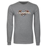 Grey Long Sleeve T Shirt-2017 Big West Track & Field Champions