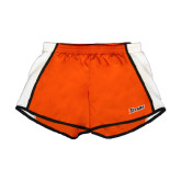 Ladies Orange/White Team Short-Primary Logo