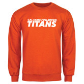 Orange Fleece Crew-Cal State Fullerton Titans Stacked