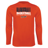 Performance Orange Longsleeve Shirt-Basketball Repeating