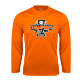 Performance Orange Longsleeve Shirt-2016 Big West Conference Champions Baseball