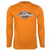 Performance Orange Longsleeve Shirt-2017 Big West Back to Back Softball Champions