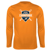 Performance Orange Longsleeve Shirt-Big West 2018 Baseball Champions