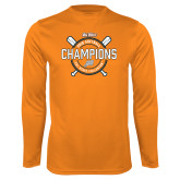Performance Orange Longsleeve Shirt-Big West 2018 Softball Champions