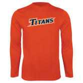 Performance Orange Longsleeve Shirt-Primary Logo