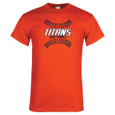 Orange T Shirt-Softball Sideway Seams
