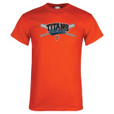 Orange T Shirt-Baseball Crossed Bats