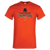 Orange T Shirt-2018 Mens Basketball Champions - Net w/ Basketball
