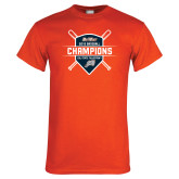 Orange T Shirt-Big West 2018 Baseball Champions