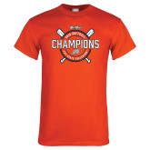 Orange T Shirt-Big West 2018 Softball Champions