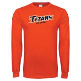 Orange Long Sleeve T Shirt-Soccer