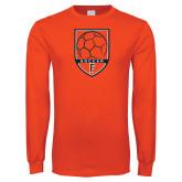 Orange Long Sleeve T Shirt-Soccer Shield