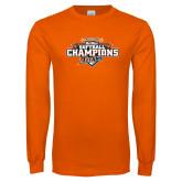 Orange Long Sleeve T Shirt-2017 Big West Back to Back Softball Champions