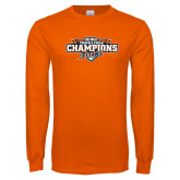 Orange Long Sleeve T Shirt-2017 Big West Track & Field Champions