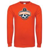 Orange Long Sleeve T Shirt-2017 Big West Womens Soccer Champions