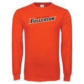 Orange Long Sleeve T Shirt-Cal State Fullerton
