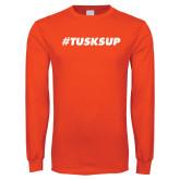 Orange Long Sleeve T Shirt-Tusks Up