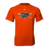 Under Armour Orange Tech Tee-Baseball Crossed Bats
