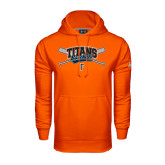 Under Armour Orange Performance Sweats Team Hoodie-Baseball Crossed Bats