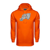 Under Armour Orange Performance Sweats Team Hoodie-Alternate Head