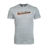 Next Level SoftStyle Heather Grey T Shirt-Cal State Fullerton